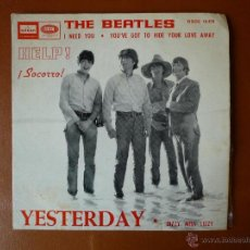 Discos de vinilo: THE BEATLES, HELP!, ¡SOCORRO! YESTERDAY, ODEON Y EMI. Lote 40850535