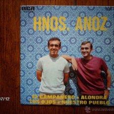Discos de vinilo: HERMANOS ANOZ - EL CAMPANERO + 3. Lote 40853231