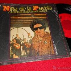 Discos de vinilo: NIÑA DE LA PUEBLA CAMPANILLEROS / SEVILLANAS 7 SINGLE 1971 DISCOPHON. Lote 40858636