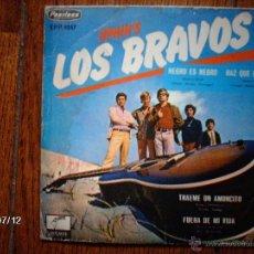 Discos de vinilo: LOS BRAVOS - NEGRO ES NEGRO ( BLACK IS BLACK ) + 3 - EDICIÓN MEXICANA. Lote 40859425