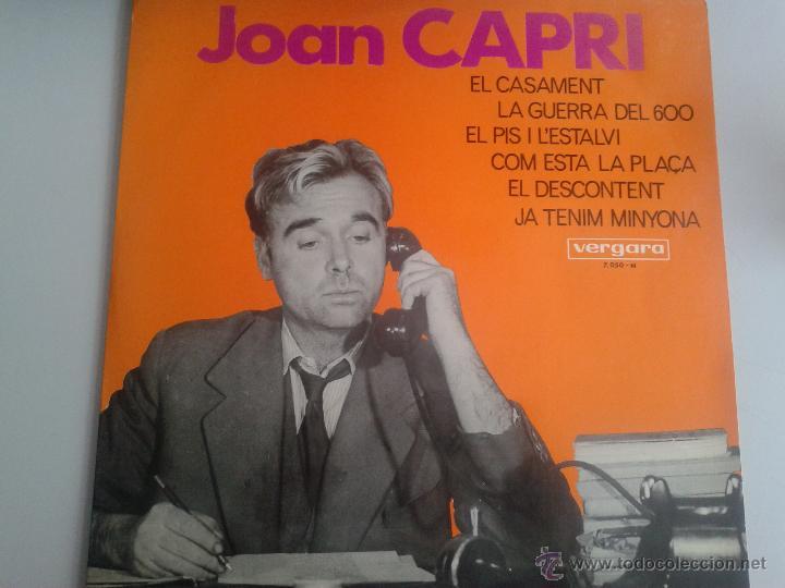 MAGNIFICO LP DEL HUMORISTA - JOAN CAPRI - DEL AÑO 1967 - (Música - Discos de Vinilo - Maxi Singles - Solistas Españoles de los 70 a la actualidad)
