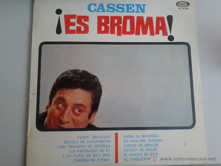 MAGNIFICO LP DEL HUMORISTA CASSEN - EN ES BROMA - DEL AÑO 1967 - (Música - Discos de Vinilo - Maxi Singles - Solistas Españoles de los 70 a la actualidad)