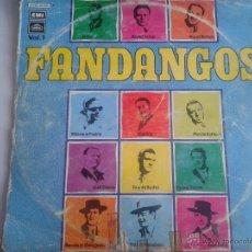 Discos de vinilo: MAGNIFICO LP DE FANDANGOS - CON EL SEVILLANO-MANOLO CARACOL-RAFAEL FARINA-PEPE PINTO -. Lote 40874937