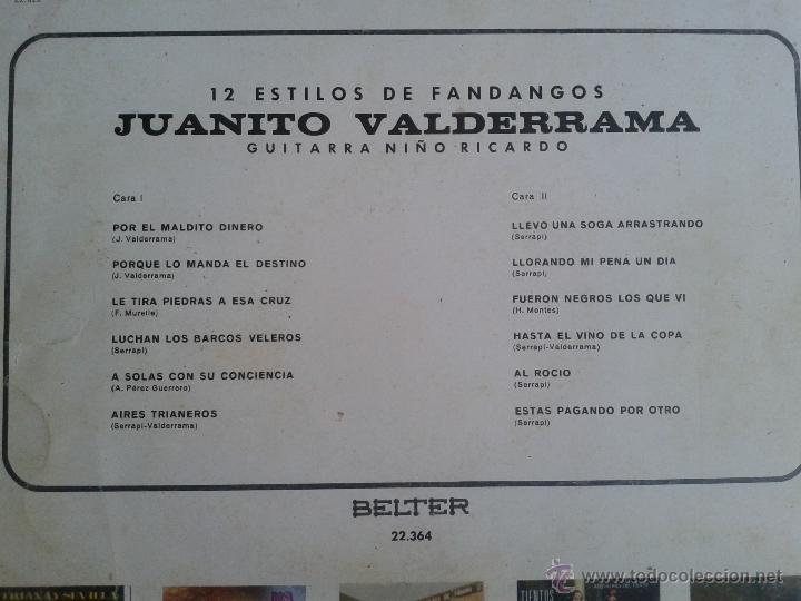 Discos de vinilo: MAGNIFICO LP DE 12 ESTILOS CON JUANITO VALDERRAMA- - Foto 2 - 40875243
