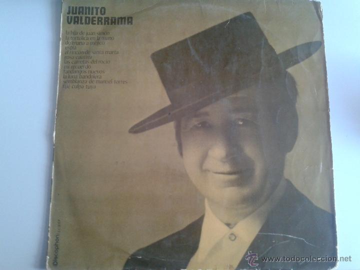 MAGNIFICO LP DE JUANITO VALDERRAMA- CON LA HIJA DE JUAN SIMON - FUE CULPA TUYA - (Música - Discos de Vinilo - Maxi Singles - Flamenco, Canción española y Cuplé)