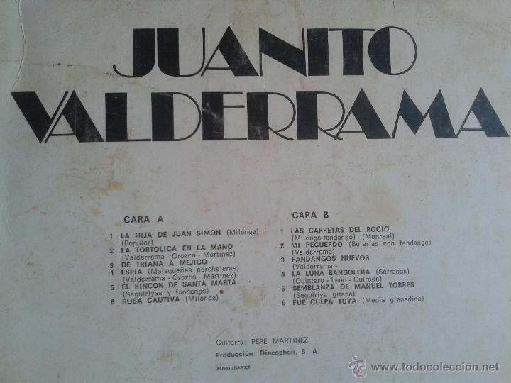 Discos de vinilo: MAGNIFICO LP DE JUANITO VALDERRAMA- CON LA HIJA DE JUAN SIMON - FUE CULPA TUYA - - Foto 2 - 40875306