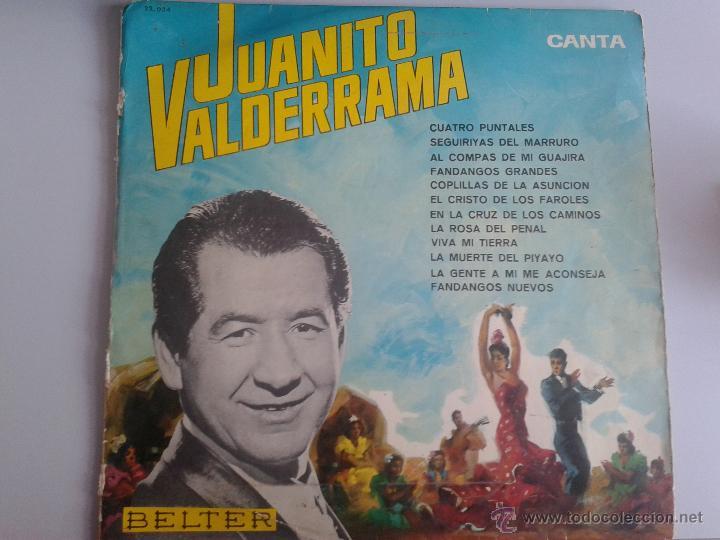 MAGNIFICO LP DE JUANITO VALDERRAMA- FANDANGOS NUEVOS Y EL CRISTO DE LOS FAROLES - (Música - Discos de Vinilo - Maxi Singles - Flamenco, Canción española y Cuplé)