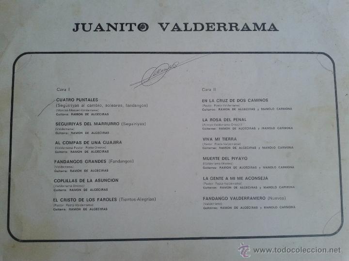 Discos de vinilo: MAGNIFICO LP DE JUANITO VALDERRAMA- FANDANGOS NUEVOS Y EL CRISTO DE LOS FAROLES - - Foto 2 - 40875370