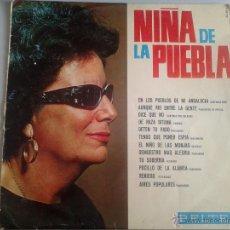 Discos de vinilo: MAGNIFICO LP DE LA - NIÑA DE LA PUEBLA -. Lote 40875445
