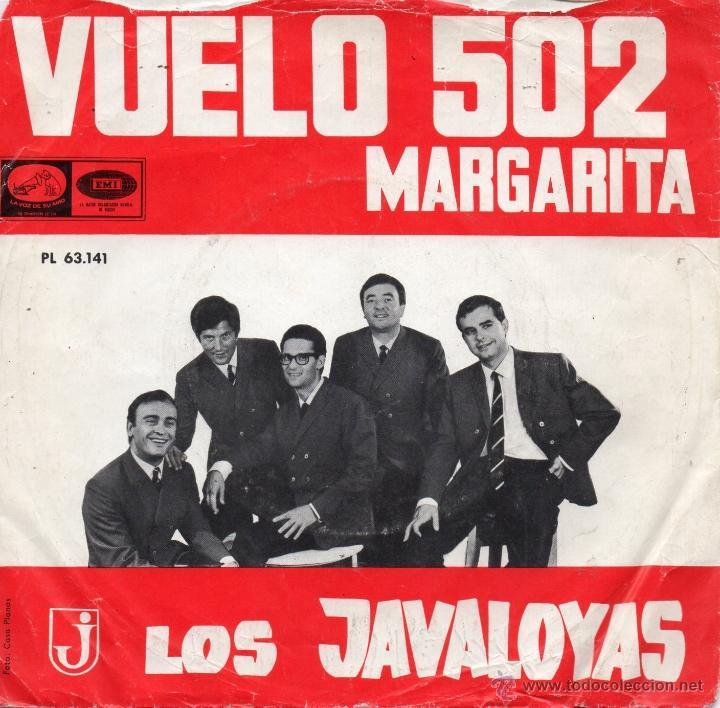 JAVALOYAS, SG, VUELO 502 + 1, AÑO 1966 (Música - Discos - Singles Vinilo - Grupos Españoles 50 y 60)