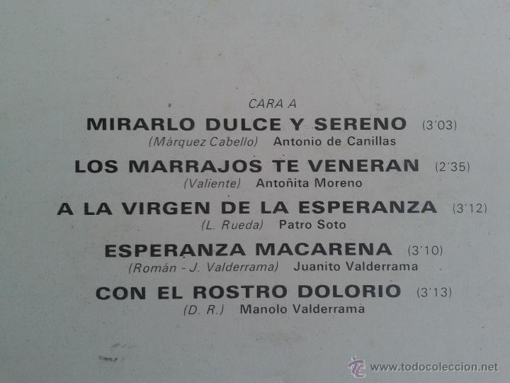 Discos de vinilo: MAGNIFICO LP DE SAETAS - ANTONIO DE CANILLAS - JUANITO VALDERRAMA - PEPE MARCHENA - - Foto 2 - 40875637
