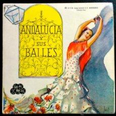 Discos de vinilo: EMMA MALLERAS - ANDALUCÍA Y SUS BAILES - EP SOLO PORTADA. Lote 40896402