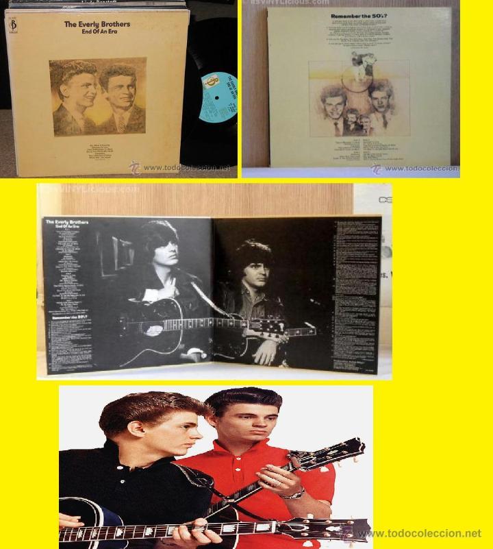 EVERLY BROTHERS, END OF AN ERA !! DOBLE LP, 18 TEMAS !!!! ORIG EDT UK !! TODO EXC !!!!!!!!!!!!!! (Música - Discos - LP Vinilo - Pop - Rock Extranjero de los 50 y 60)