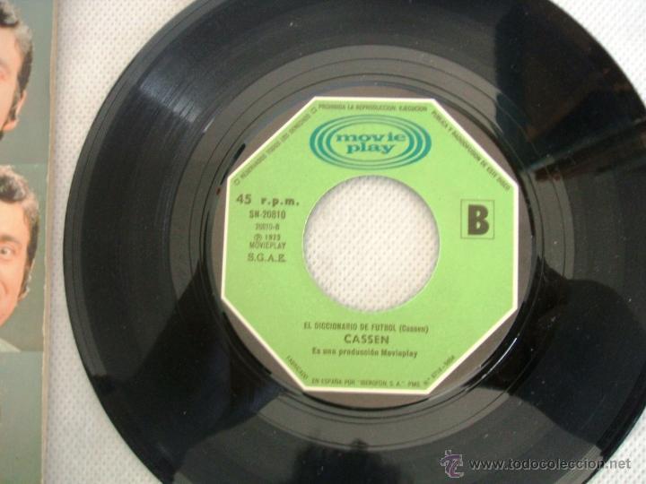 Discos de vinilo: CASSEN / Y VIVA ESPAÑA - single MOVIEPLAY SN -20.810 / AÑO 1973 - Foto 4 - 40905169