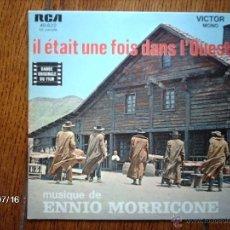 Discos de vinilo: ENNIO MORRICONE - IL ETAIT UNE FOIS DANS L´OUEST + L´HOMME A L´HARMONICA . Lote 40906512