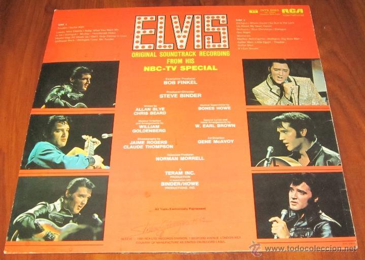 Discos de vinilo: ELVIS PRESLEY - ELVIS - LP - RCA INTERNACIONAL 1968 UK - Foto 3 - 40907328
