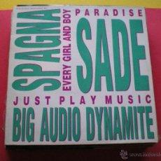 Discos de vinilo: SADE / SPAGNA / BIG AUDIO DYNAMITE - EVERY GIRL ANB BOY - MAXI CBS PROMO 1988 3 TRACK PEPETO. Lote 40911709