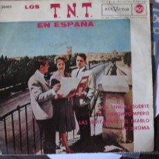 Discos de vinilo: LOS TNT EN ESPAÑA: QUE TENGAS SUERTE, EL POROMPOMPERO Y´+. Lote 182750525