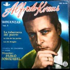 Discos de vinilo: ALFREDO KRAUS - ROMANZAS VOL.1 - LA TABERNERA DEL PUERTO... DIRECCIÓN: PABLO SOROZÁBAL - EP. Lote 40915084