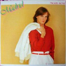 Discos de vinilo: MIGUEL BOSE - MADRID LP - HECHO EN JAPON - PROMO, CON POSTER Y HOJAS INTERIORES - MUY RARO. Lote 40926081