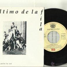 Discos de vinilo: EL ULTIMO DE LA FILA SINGLE PROMOCIONAL BARRIO TRISTE ESPAÑA 1991 CON HOJA PROMO. Lote 40931276