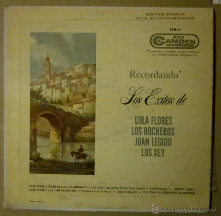 LOLA FLORES, LOS BOCHEROS, JUAN LEGIDO, LOS XEY - EDICIÓN MEXICANA (Música - Discos - LP Vinilo - Flamenco, Canción española y Cuplé)