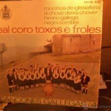 Discos de vinilo: REAL CORO TOXOS E FROLES - CANCIONES GALLEGAS 4 - RARO EP AÑO 1963. Lote 40935293