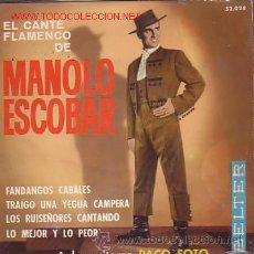 Discos de vinilo: MANOLO ESCOBAR EL CANTE FLAMENCO DE EP DE 4 TEMAS BELTER 1960. Lote 40935387