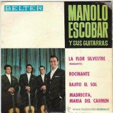 Discos de vinilo: MANOLO ESCOBAR - MADRECITA, MARÍA DEL CARMEN Y OTRAS. SINGLE DEL SELLO BELTER DEL AÑO 1.964. Lote 40937443