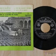 Discos de vinilo: BANDA DE MUSICA DE LA ACADEMIA AUXILIAR MILITAR Y COROS DE HOMBRES DE CANTORES DE MADRID SINGLE. Lote 40942808