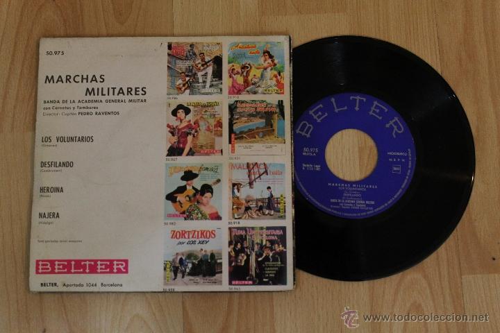 Discos de vinilo: MARCHAS MILITARES BANDA DE LA ACADEMIA GENERAL MILITAR CON CORNETAS Y TAMBORES SINGLE - Foto 2 - 57520491