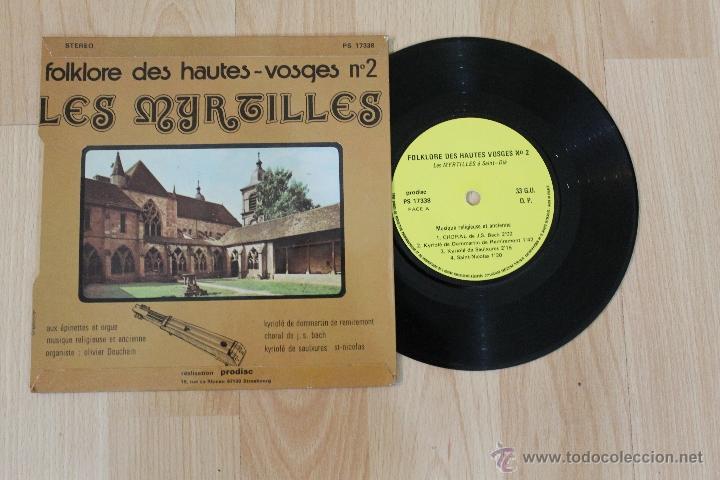 Discos de vinilo: FOLKLORE DES HAUTES-VOSGES Nº 2 LES MYRTILLES SINGLE MADE IN FRANCE - Foto 2 - 40944369