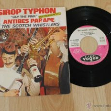 Discos de vinilo: THE SCOTCH WHISTLERS LE SIROP TYPHON ANTIBES PARADE SINGLE MADE IN FRANCE 1969. Lote 40944146