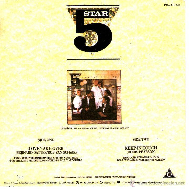 Discos de vinilo: 5 STAR LOVE TAKE OVER - Foto 2 - 40945183