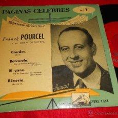 Discos de vinilo: FRANCK POURCEL CZARDAS/BARCAROLA/EL CISNE/RÊVERIE 7 EP 195? LA VOZ DE SU AMO ESPAÑA SPAIN. Lote 40947781