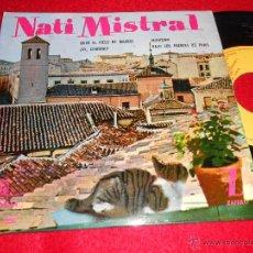 Discos de vinilo: NATI MISTRAL BAJO EL CIELO DE MADRID/MONISIMA/¡AY CIPRIANO!/BAJO LOS PUENTES DE PARIS EP 1959 MONTIL. Lote 40948445