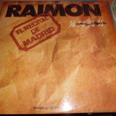 Discos de vinilo: RAIMON - EL RECITAL DE MADRID CON EL LIBRETO ENCARTE BUEN ESTADO GENERAL. Lote 40948928