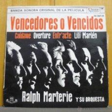 Discos de vinilo: RALPH MARTERIE Y SU ORQUESTA - BSO VENCEDORES O VENCIDOS - EP UNITED ARTISTS RECORDS - 1962. Lote 40952305