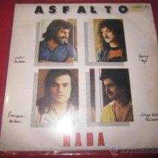 Discos de vinilo: ASFALTO - NADA - EDICION PROMOCIONAL EN CHAPA DISCOS.. Lote 40952427