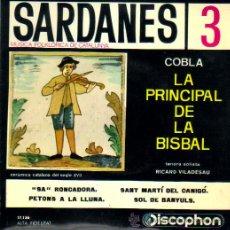 Discos de vinilo: SANDANES 3**LA PRINCIPAL DE LA BISBAL**SA RONCADORA*SANT MARTÍ DEL CANIGO*SOL DE BANYULS. Lote 40955296