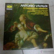 Discos de vinilo: LP VIVALDI 4 CONCIERTOS. Lote 40960471