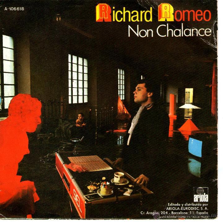 Discos de vinilo: RICHARD ROMEO NON CHALANCE - Foto 2 - 40970523