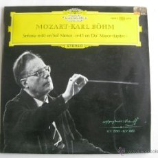 Discos de vinilo: MOZART-SINFONIAS 40 Y 41 . DIRECTOR KARL BÖHM. DEUTSCHE GRAMMOPHON. Lote 40974119