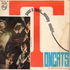 Discos de vinilo: TOMCATS, SG, PAINT IT BLACK (ROLLING STONES) + 1, AÑO 1967. Lote 40975486