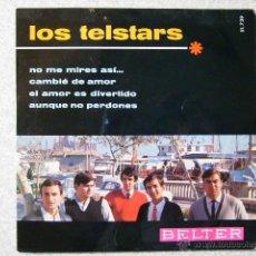 Disques de vinyle: LOS TELSTARS.NO ME MIRES ASI + 3...EX. Lote 40989244