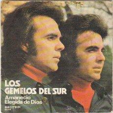 Discos de vinilo: LOS GEMELOS DEL SUR - AMANECIO / ELEGIDA DE DIOS, SINGLE DEL SELLO BELTER EN 1972. Lote 40992801