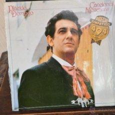 Discos de vinilo: PLACIDO DOMINGO CANCIONES MEJICANAS. Lote 40997557