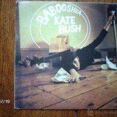 Disques de vinyle: KATE BUSH - BABOOSHKA + RAN-TAN WALTZ. Lote 41002943