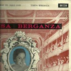 Discos de vinilo: TERESA BERGANZA ARIAS DE OPERA DEL SIGLO XVIII LP SELLO DECCA AÑO 1961. Lote 41011706