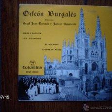 Discos de vinilo: ORFEON BURGALES - HIMNO A CASTILLA + 3 . Lote 41018045